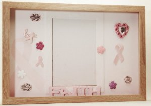 Breast Cancer Pink Ribbons Picture/Photo Frame 3534