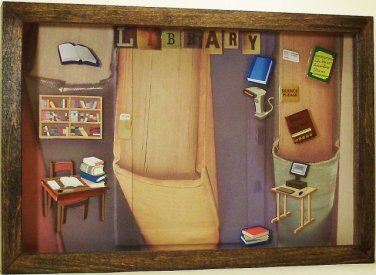 Library Picture/Photo Frame 7253