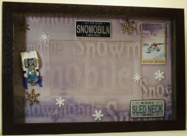 Snowmobile Picture/Photo Frame 8235