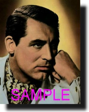 16X20 CARY GRANT RARE COLOR VINTAGE PHOTO PRINT