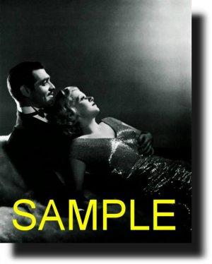 16X20 CLARK GABLE AND JEAN HARLOW 1937 RARE VINTAGE PHOTO PRINT