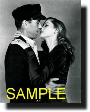 16X20 HUMPHREY VOHART AND LAUREN BACALL 1945 RARE VINTAGE PHOTO PRINT