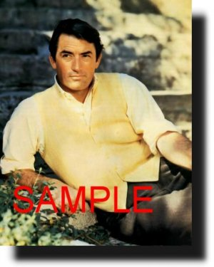 8X10 GREGORY PECK RARE VINTAGE PHOTO PRINT