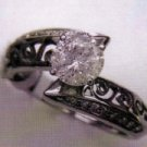 Ladies 14K White Gold Ring with a 1.05 carat center diamond