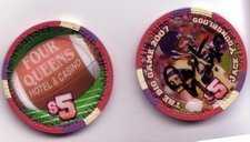 XLI Autographed Super Bowl Chip from the 4 Queens Casino