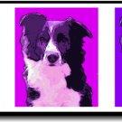 Original Pop Art Border Collie Dog Huge Panoramic Print