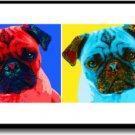 Original Pop Art Pug Dog Huge Panoramic Print