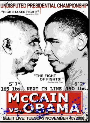 MR BRAINWASH OBAMA VS MCCAIN SIGNED AND NUMBERED LIMITED EDITION