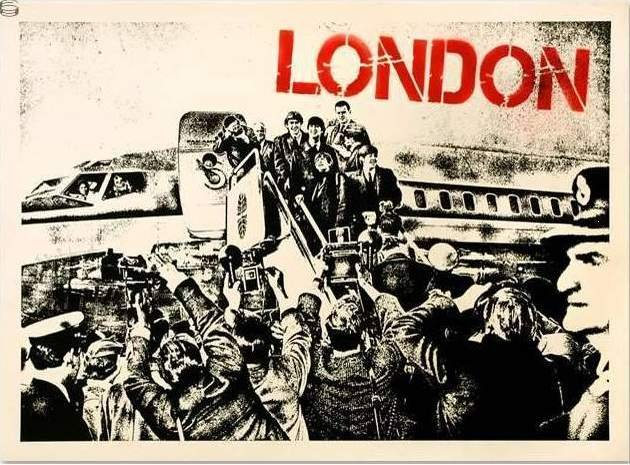Mr Brainwash Beatles John Lennon Paul McCartney London Limited Edition Art Print