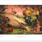 "Mark Ryden ""Pumpkin President"" Signed and Numbered Edition of 500 with Certificate of Authenticity"