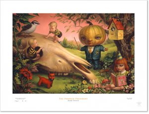"""Mark Ryden """"Pumpkin President"""" Signed and Numbered Edition of 500 with Certificate of Authenticity"""