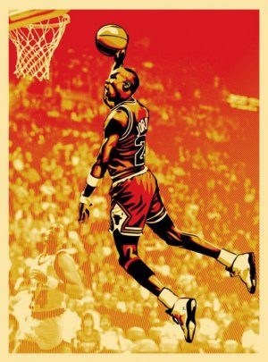 Shepard Fairey Michael Jordan Obey Giant Chicago Bulls NBA Art Limited Edition