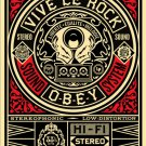 Shepard Fairey Obey Giant Vive Le Rock Vinyl Hi Fi Stereo Limited Edition Art