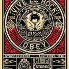 Shepard Fairey Obey Giant Vive Le Rock Vinyl Hi Fi Stereo Limited Edition Art