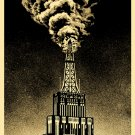 Shepard Fairey Obey Giant Oil & Gas Building Industrial Power Oil Rig Art Print