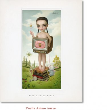 "Mark Ryden ""Puella Animo Aureo"" Limited Edition Lithograph Print"