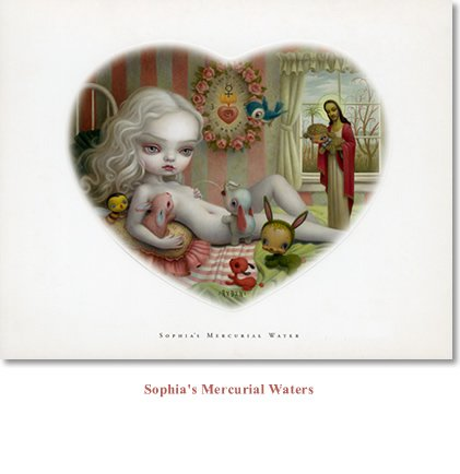 """Mark Ryden """"Sophia's Mercurial Waters"""" Limited Edition Lithograph Print"""