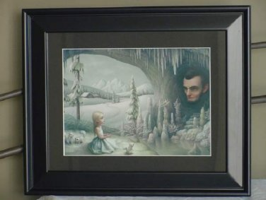 "Mark Ryden ""Grotto of The Old Mass"" Snow Cave Abraham Lincoln"