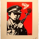 "Shepard Fairey  ""Chinese Soldiers"" Letterpress 2014 Obey Giant"