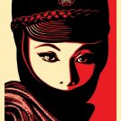 Shepard Fairey Obey Giant Mujer Fatal Signed Lithograph