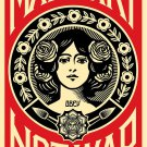 Shepard Fairey Obey Giant Make Art Not War Signed Lithograph