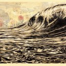Shepard Fairey Obey Giant Dark Wave Signed Lithograph