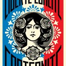 Shepard Fairey Obey Giant Liberte Egalite Fraternite Signed Lithograph