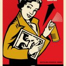 Shepard Fairey Obey Giant Stay Up Girl Signed Lithograph
