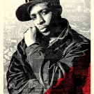 Shepard Fairey Obey Giant Chuck D Black Steel (Red Edition) Lithograph