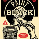 Shepard Fairey Obey Giant Paint It Black (Brush) Signed & Numbered