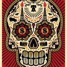 Shepard Fairey  Power and The Glory Day of The Dead Skull Collaboration Lithograph