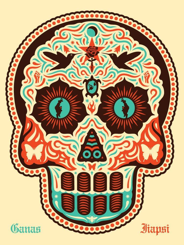 "Ernesto Yerena ""Yaqui Dia De Los Muertos"" 2012 Signed and Numbered Screen Print"