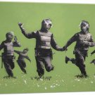Banksy Riot Police Canvas Art Print