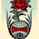 Shepard Fairey Obey Giant Eyes Open Signed Lithograph