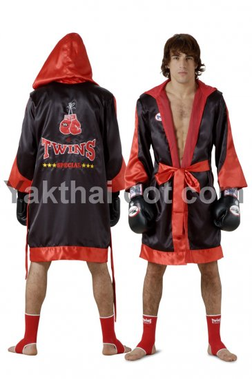 TWINS Fighter Robes - FTR-3 Black Red Trim