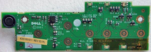 DELL LATITUDE C840 8200 POWER BUTTON LED BOARD 018GHW