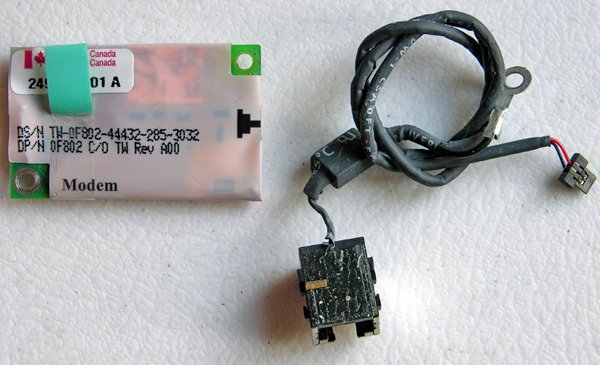 DELL INSPIRON 2650 4100 8000 MODEM CARD W CABLE & JACK