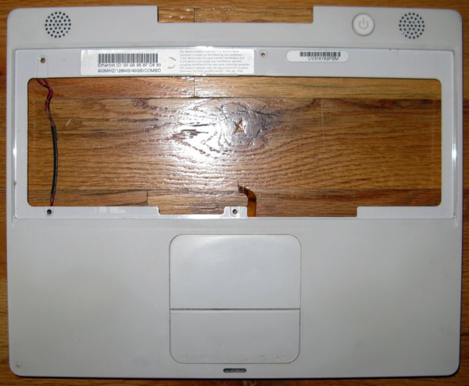 "APPLE MAC iBOOK G3 12"" 900MHz PALMREST TOUCHPAD SPEAKER"
