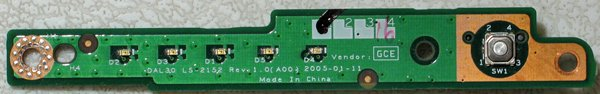 OEM DELL INSPIRON 6000 POWER BUTTON SWITCH LED LS-2152