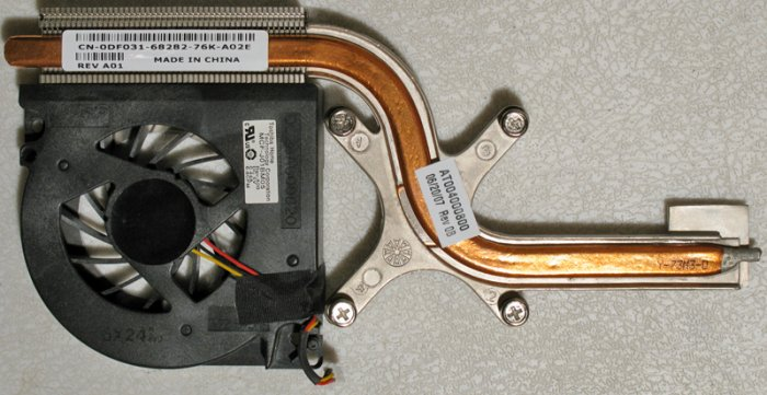 DELL INSPIRON E1705 9400 9300 CPU HEATSINK & FAN DF031 / MCF-J01BM05