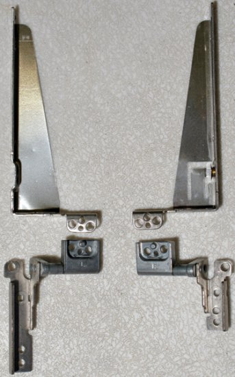 "TOSHIBA SATELLITE 4080 4090 14.1"" LCD SCREEN HINGES SET LEFT & RIGHT"