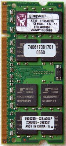 IBM THINKPAD LENOVO T42 T43 X41 R51 R52 T60 T61 1GB LAPTOP RAM 40E8996
