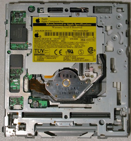 GENUINE APPLE MAC POWERBOOK G4 400MHz 500MHz CD DVD DRIVE SR-8187-B