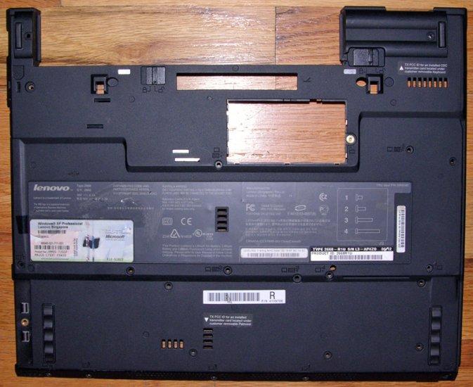 IBM THINKPAD LENOVO T41 T42 T43 BOTTOM BASE COVER w/ COA 41V9706