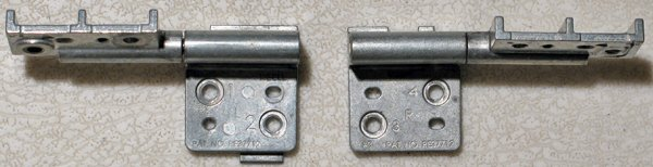 DELL INSPIRON 9200 9300 9400 M1710 E1705 LCD HINGES SET LEFT & RIGHT