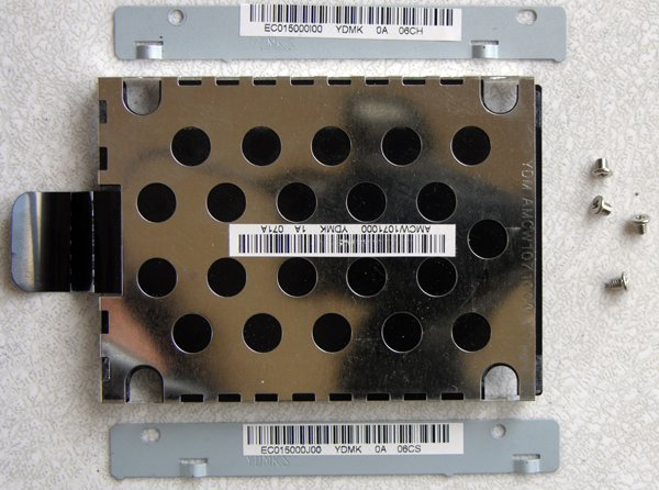 TOSHIBA SATELLITE A135 HD HARD DRIVE CADDY AMCW1071000 w/ SCREWS
