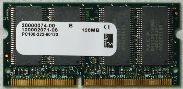 NEC DELL 128MB RAM PC100 144 PIN SDRAM DEM 30000074-00