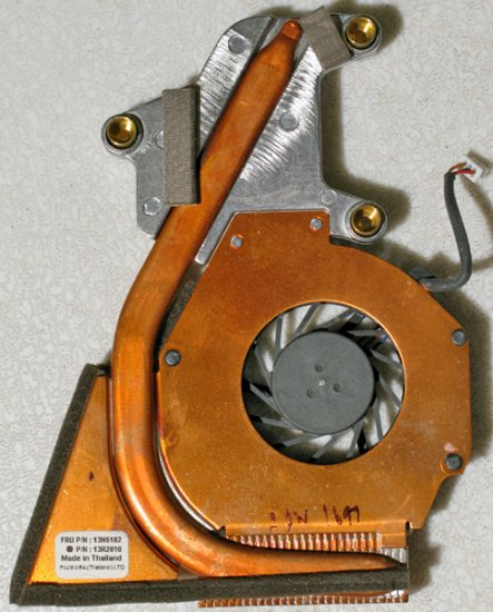 IBM R50 R51CPU PROCESSOR HEATSINK & FAN 13N5182 13R2810
