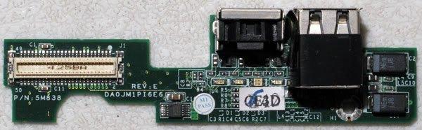 DELL D600 500M 600M USB / S VIDEO OUT BOARD DA0JM1PI6E6