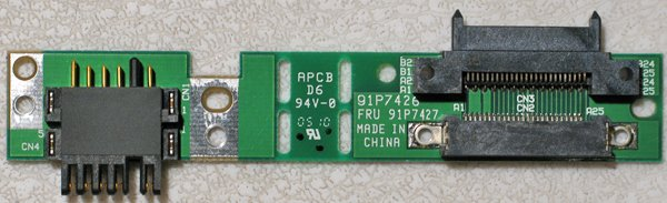 IBM THINKPAD R50 R51 T40 T41 INTERPOSER CARD 91P7427
